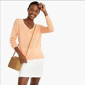NWT J Crew Linen Blend sweater
